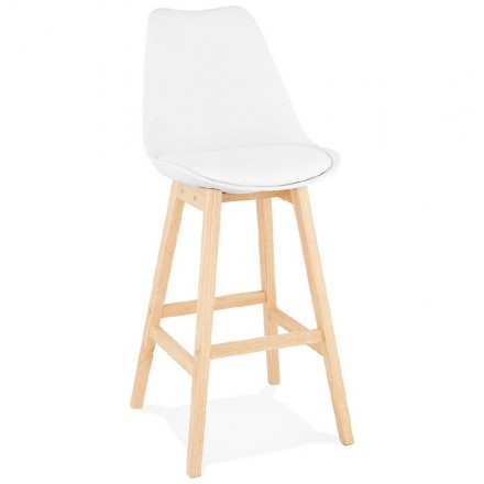 Scandinavian design bar DYLAN Chair bar stool (white)