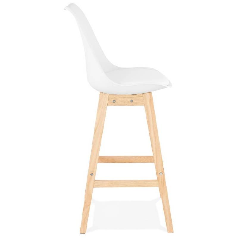 Tabouret de bar chaise de bar design scandinave DYLAN (blanc) - image 37681