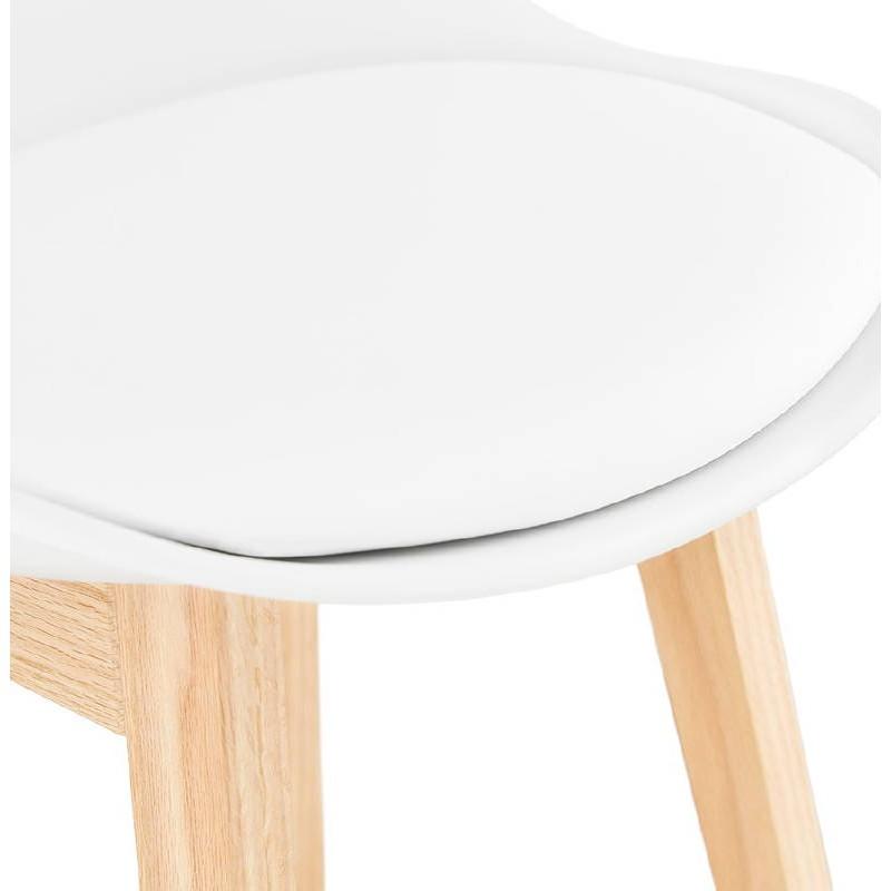 Tabouret de bar chaise de bar design scandinave DYLAN (blanc) - image 37685