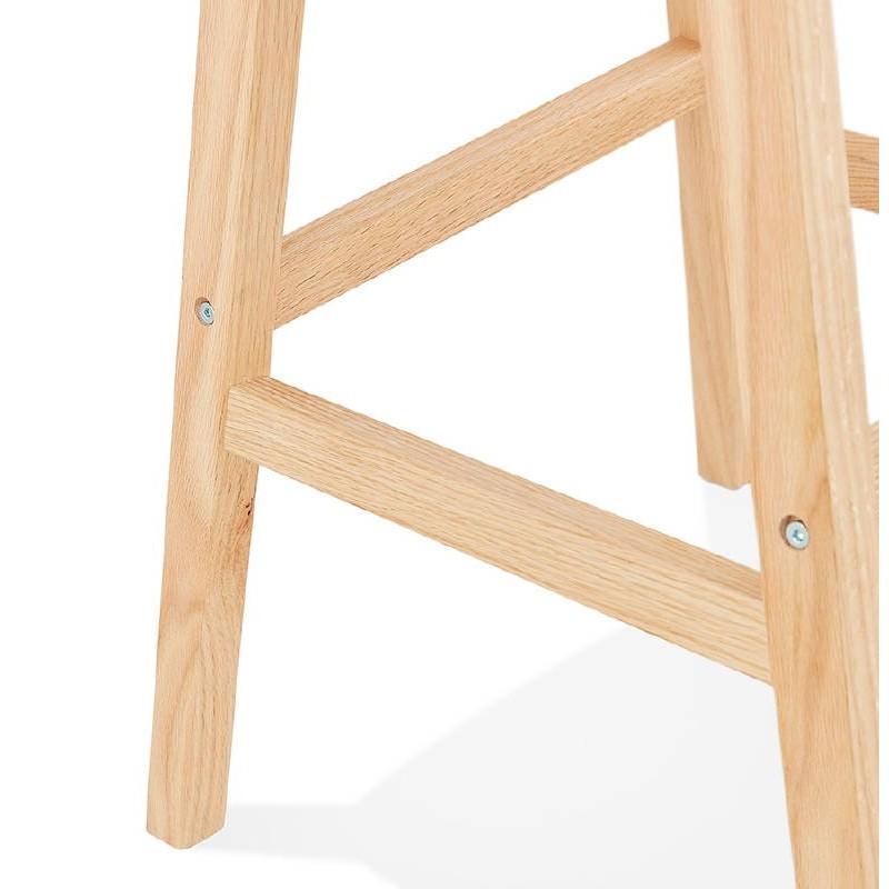Tabouret de bar chaise de bar design scandinave DYLAN (blanc) - image 37688