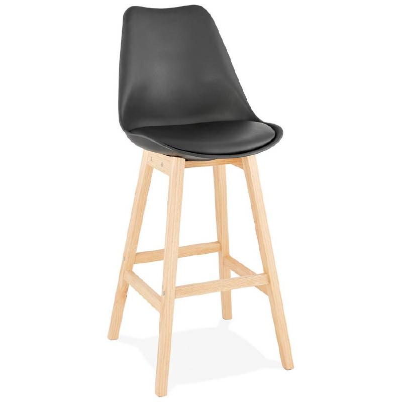 Tabouret de bar chaise de bar design scandinave DYLAN (noir) - image 37695