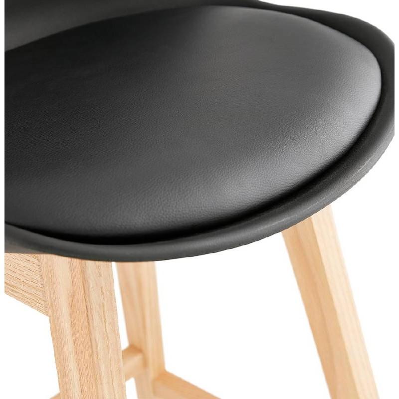Tabouret de bar chaise de bar design scandinave DYLAN (noir) - image 37701