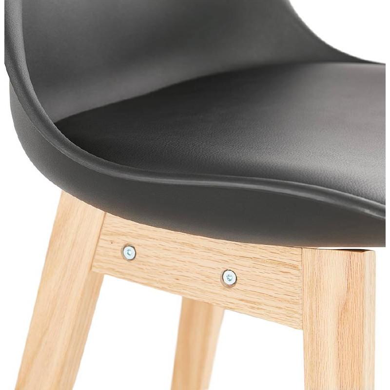 Tabouret de bar chaise de bar design scandinave DYLAN (noir) - image 37704