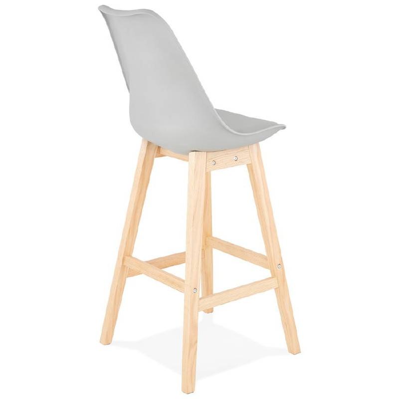 Tabouret de bar chaise de bar design scandinave DYLAN (gris clair) - image 37715