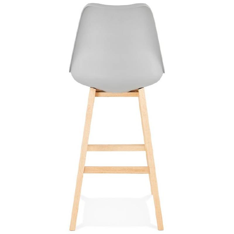 Tabouret de bar chaise de bar design scandinave DYLAN (gris clair) - image 37716