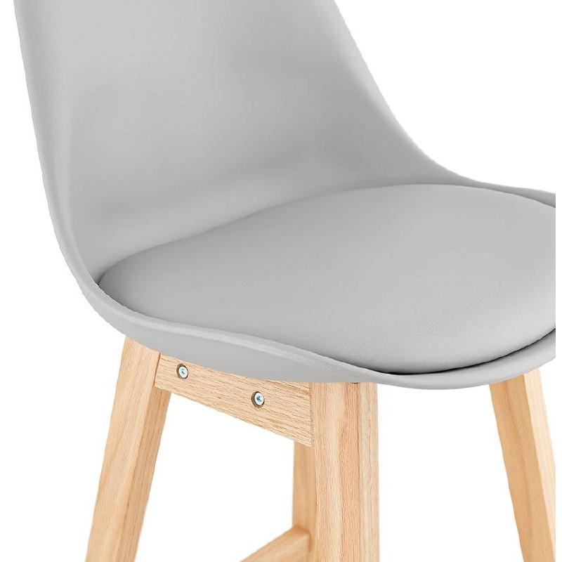 Tabouret de bar chaise de bar design scandinave DYLAN (gris clair) - image 37717