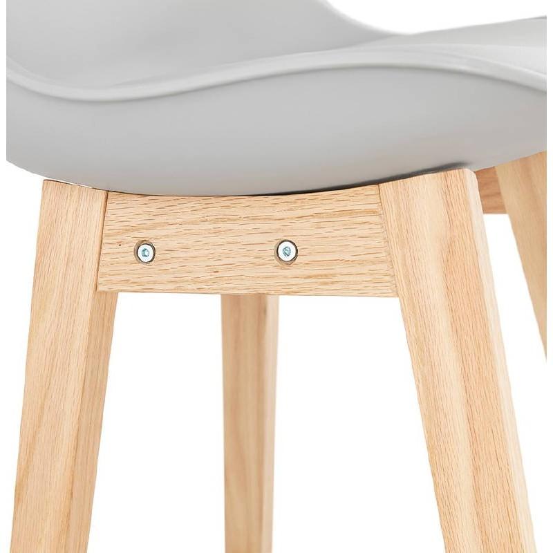 Scandinavian design bar DYLAN Chair bar stool (light gray)