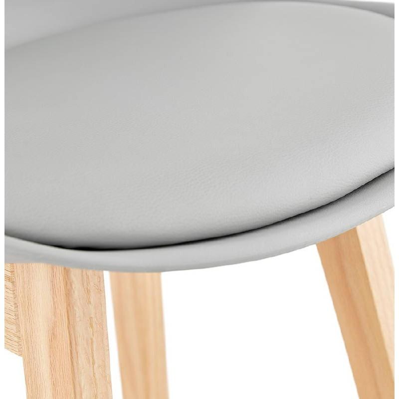 Tabouret de bar chaise de bar design scandinave DYLAN (gris clair) - image 37721