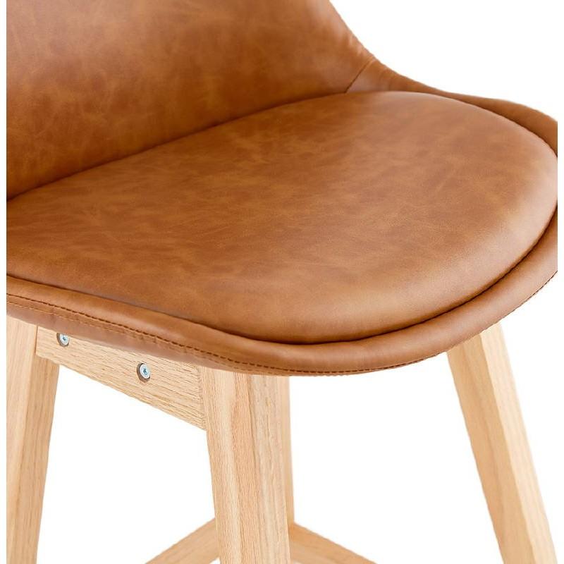 Tabouret de bar chaise de bar design DAIVY (marron clair) - image 37728