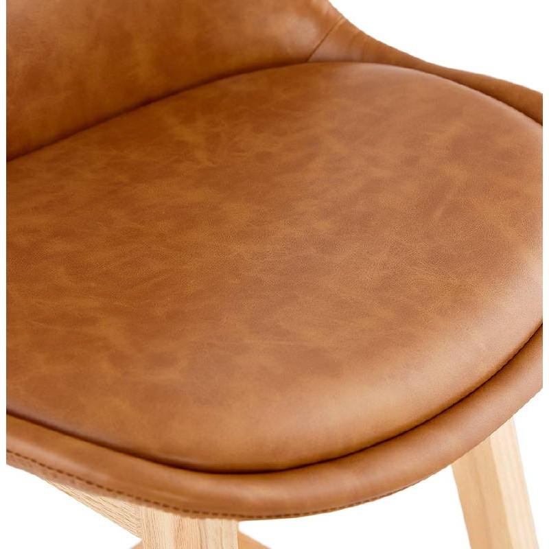 Tabouret de bar chaise de bar design DAIVY (marron clair) - image 37729