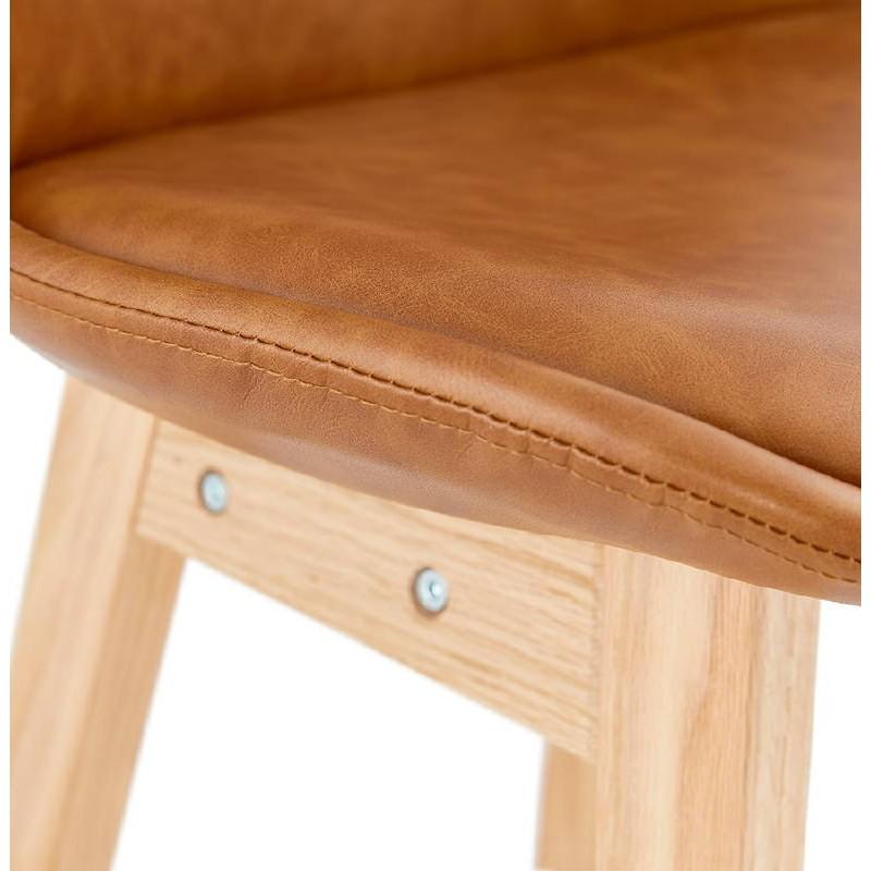 Tabouret de bar chaise de bar design DAIVY (marron clair) - image 37730