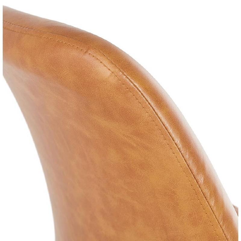 Tabouret de bar chaise de bar design DAIVY (marron clair) - image 37732
