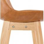 Tabouret de bar chaise de bar design DAIVY (marron clair)