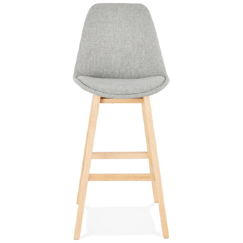 tabouret de bar chaise de bar design scandinave ilda en tissu gris clair. Black Bedroom Furniture Sets. Home Design Ideas