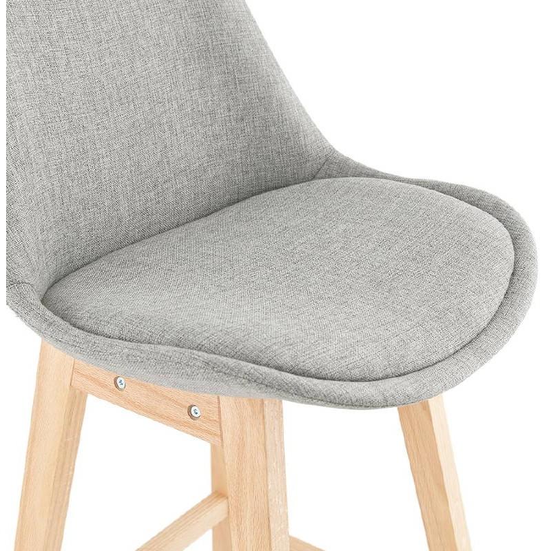 Tabouret de bar chaise de bar design scandinave ILDA en tissu (gris clair) - image 37740