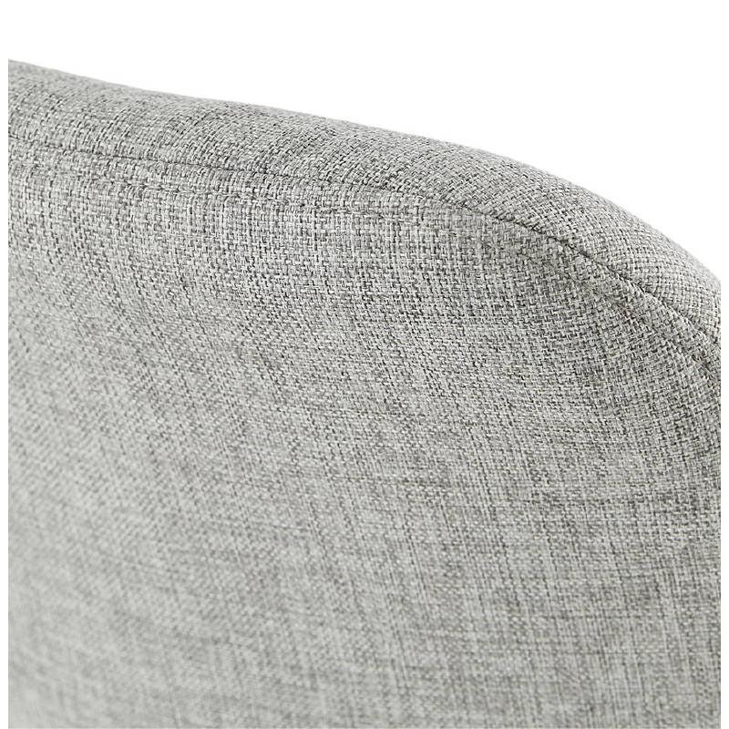 Tabouret de bar chaise de bar design scandinave ILDA en tissu (gris clair) - image 37745