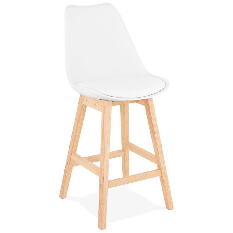 tabouret de bar chaise de bar mi hauteur design scandinave dylan mini blanc. Black Bedroom Furniture Sets. Home Design Ideas