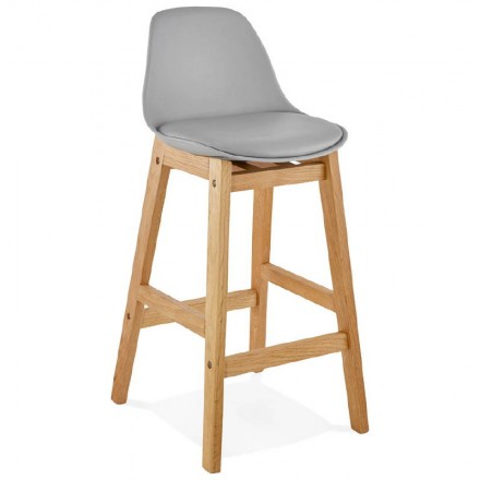 Scandinavian design mid-height FLORENCE MINI bar Chair bar stool (light gray)
