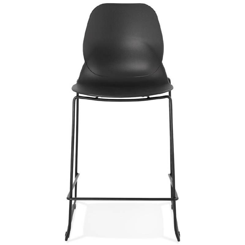 Tabouret de bar chaise de bar industriel mi-hauteur empilable JULIETTE MINI (noir) - image 37826