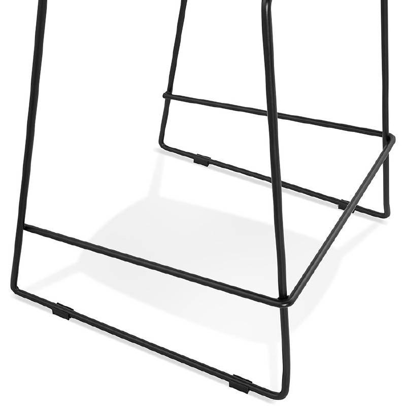Tabouret de bar chaise de bar industriel mi-hauteur empilable JULIETTE MINI (noir) - image 37833