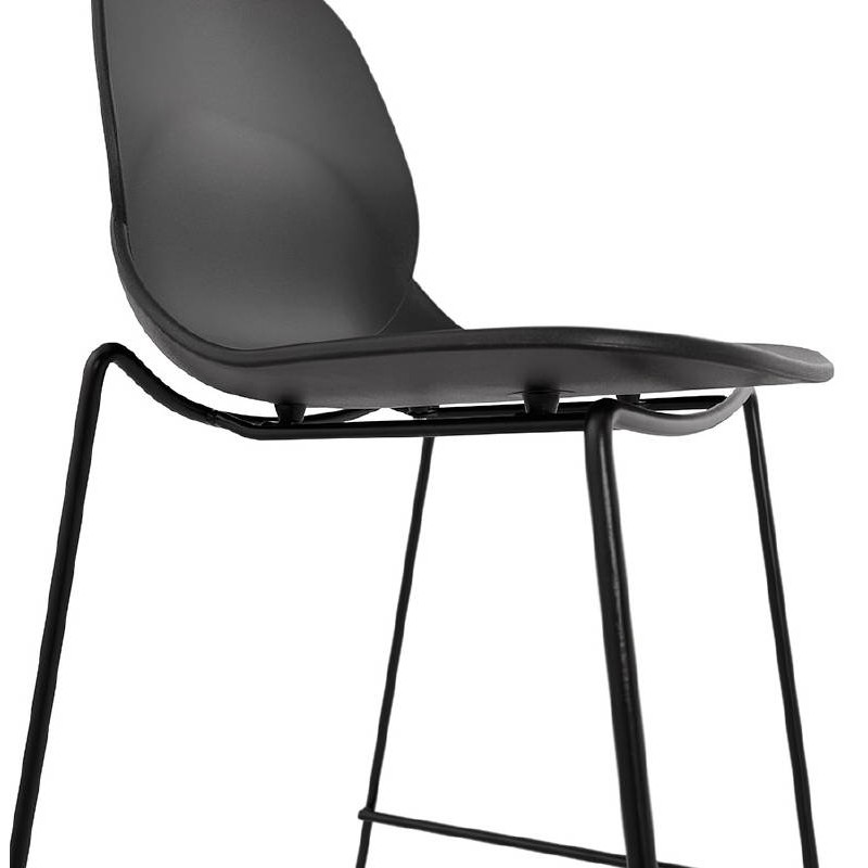 Tabouret de bar chaise de bar industriel mi-hauteur empilable JULIETTE MINI (noir) - image 37834