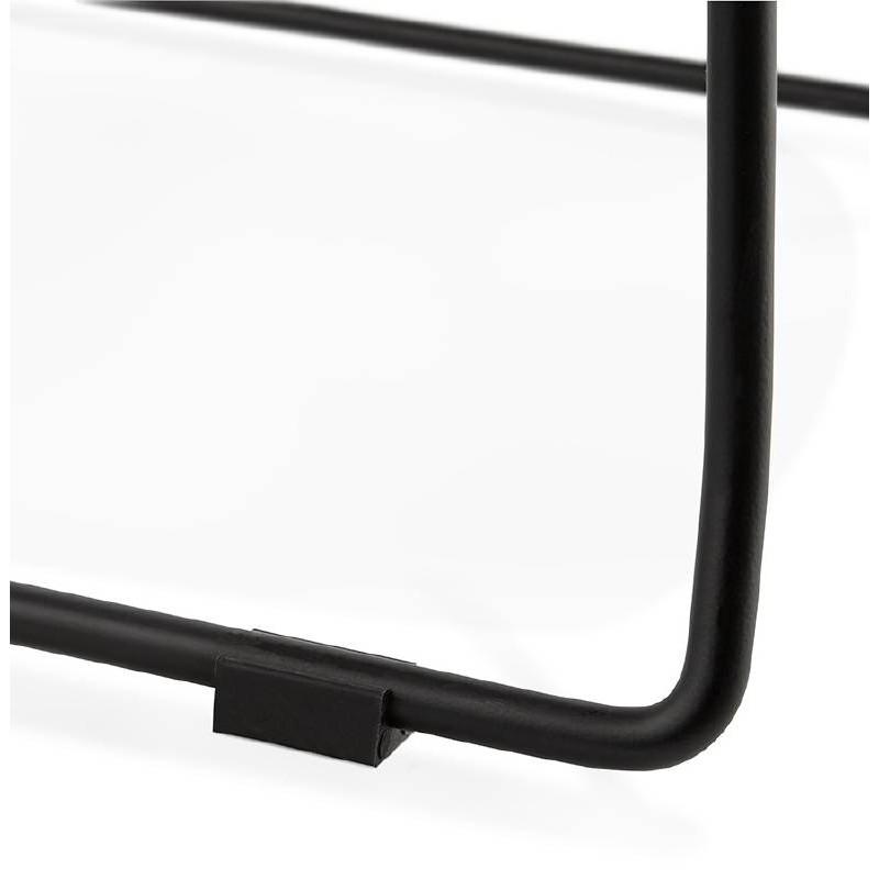 Tabouret de bar chaise de bar industriel mi-hauteur empilable JULIETTE MINI (noir) - image 37838