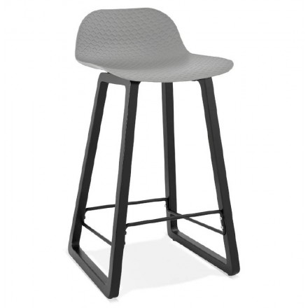 Barstool design mid-height OBELINE MINI bar Chair (light gray)