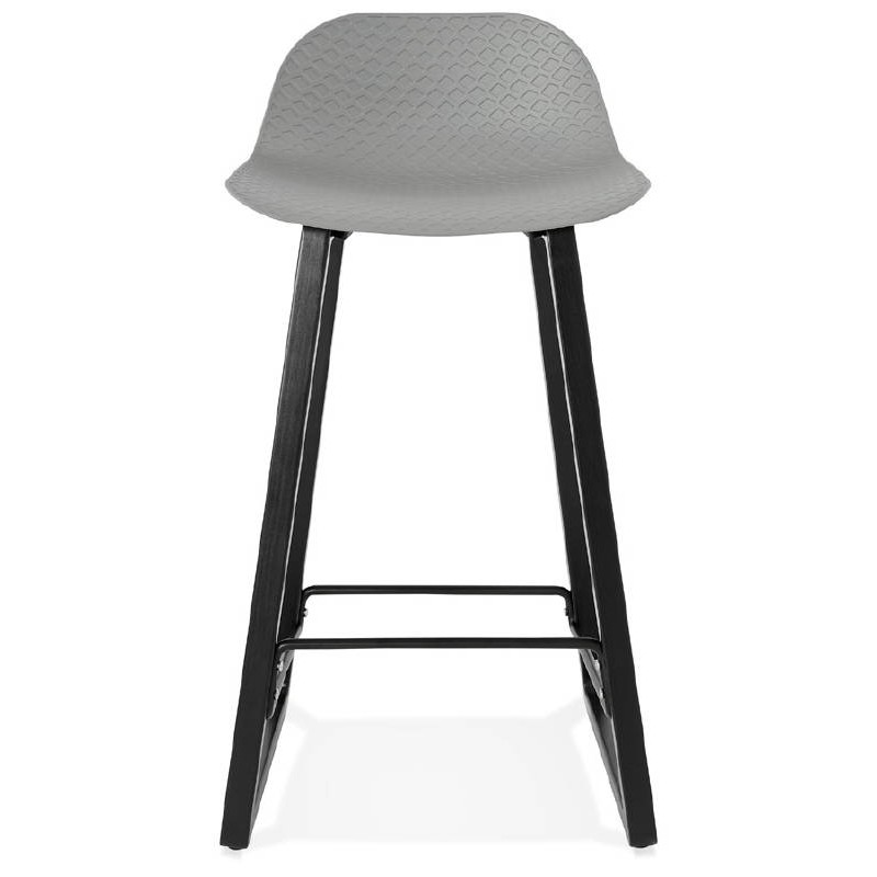 tabouret de bar chaise de bar mi hauteur design obeline mini gris clair. Black Bedroom Furniture Sets. Home Design Ideas
