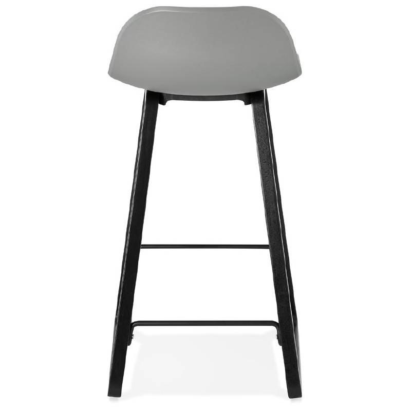 Tabouret de bar chaise de bar mi-hauteur design OBELINE MINI (gris clair) - image 37857
