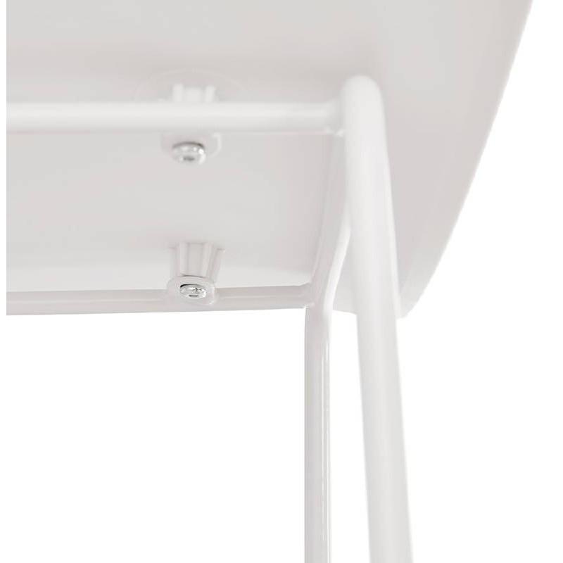 Tabouret de bar chaise de bar design ULYSSE pieds métal blanc (blanc) - image 37936