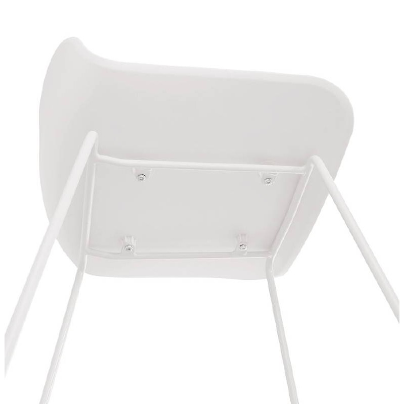 Tabouret de bar chaise de bar design ULYSSE pieds métal blanc (blanc) - image 37937
