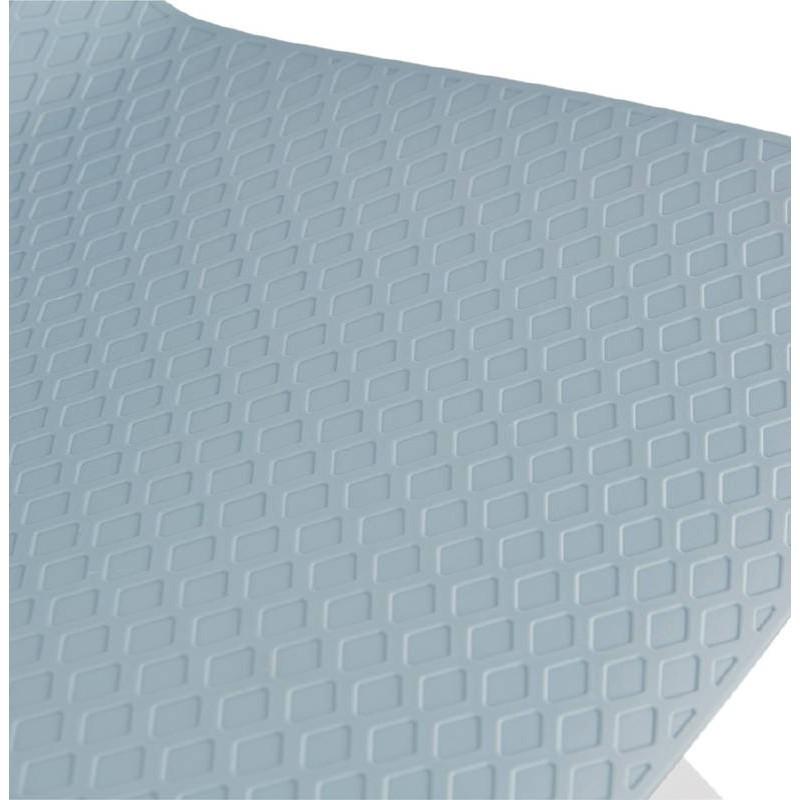 Tabouret de bar chaise de bar design ULYSSE pieds métal blanc (bleu ciel) - image 37974