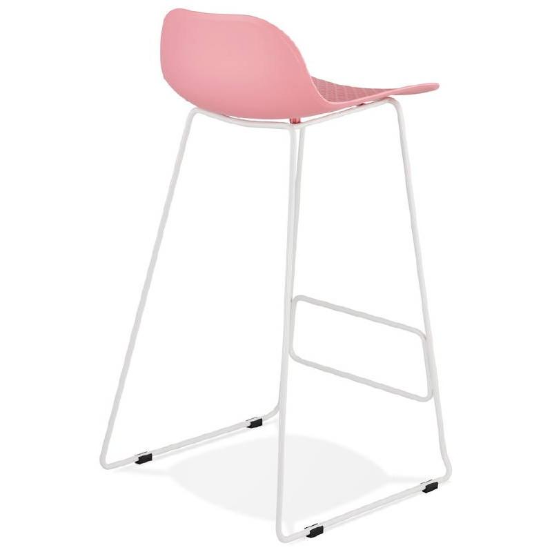 Bar-Hocker Barhocker Design Ulysses Füße Weißmetall (rosa Pulver) - image 37984