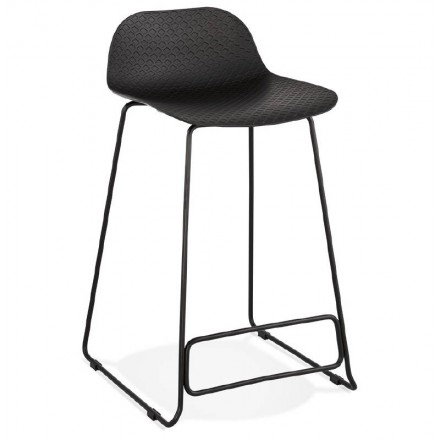 Awesome Bar Stool Design Mid Height Ulysses Mini Feet Black Black Metal Bar Chair Inzonedesignstudio Interior Chair Design Inzonedesignstudiocom