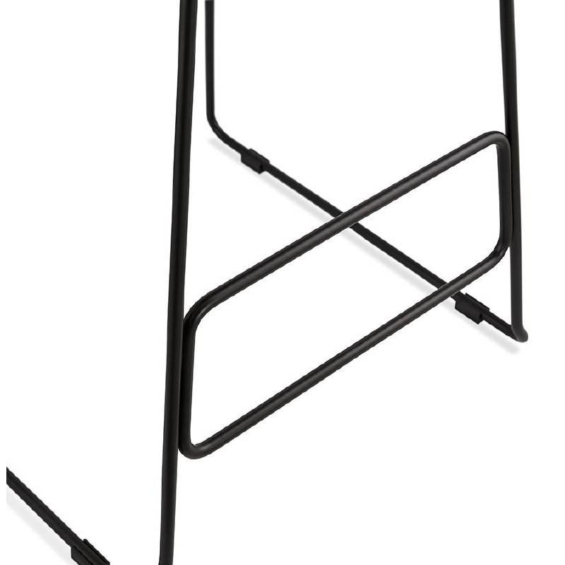 Bar taburete taburete de bar diseño metal de pies negro Ulises (polvo rosado) - image 38121