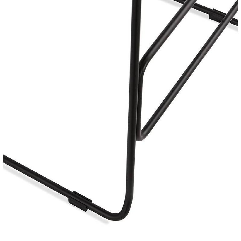 Bar taburete taburete de bar diseño metal de pies negro Ulises (polvo rosado) - image 38122