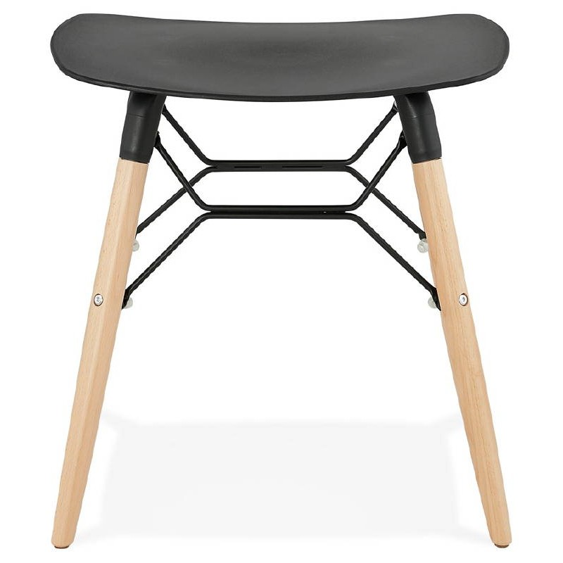 tabouret bas design scandinave gaspard noir. Black Bedroom Furniture Sets. Home Design Ideas