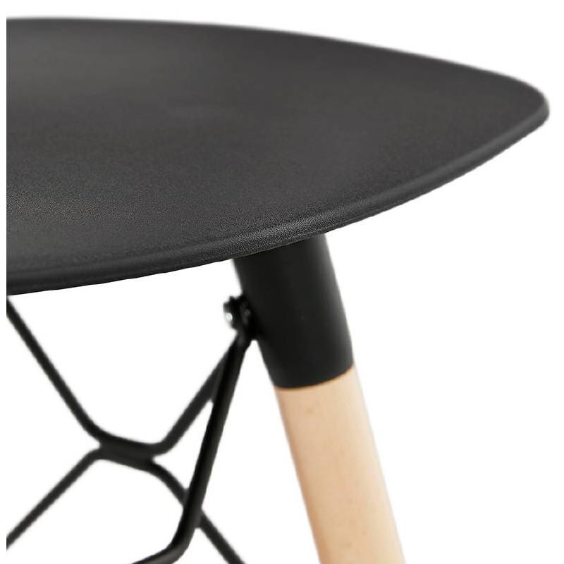tabouret bas design scandinave gaspard noir. Black Bedroom Furniture Sets. Home Design Ideas
