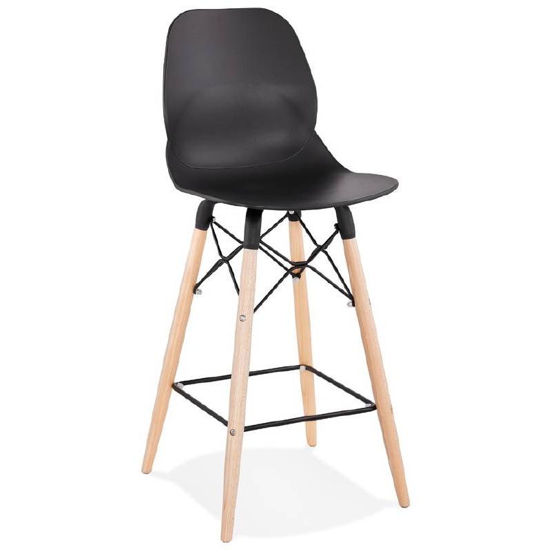 La barra hasta la mitad taburete de la silla de PACO escandinavo (negro) - image 38154