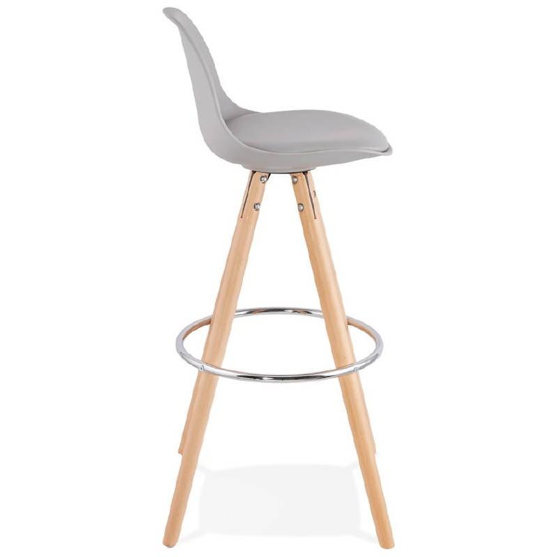 Tabouret De Bar Design Scandinave OCTAVE Gris Clair