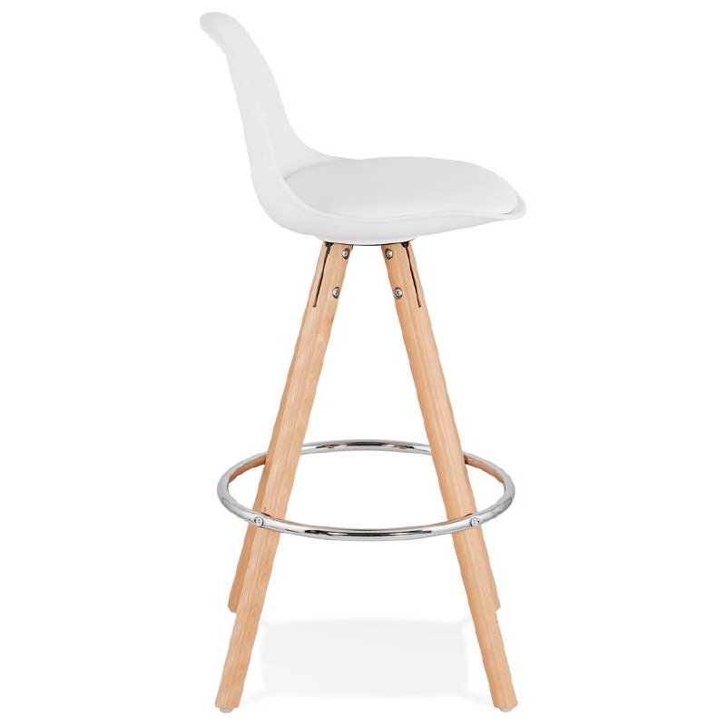 Tabouret de bar mi-hauteur design scandinave OCTAVE MINI (blanc) - image 38215