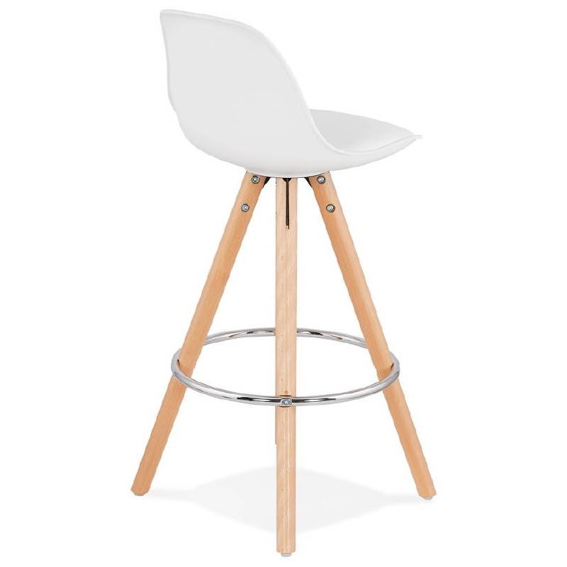 tabouret de bar mi hauteur design scandinave octave mini blanc. Black Bedroom Furniture Sets. Home Design Ideas