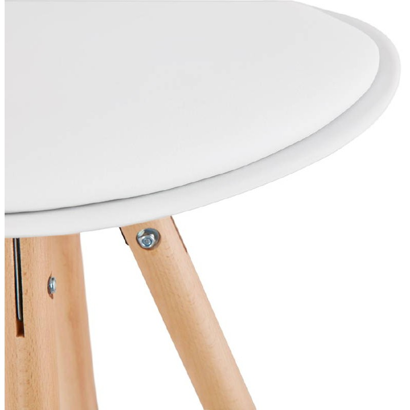 Tabouret de bar mi-hauteur design scandinave OCTAVE MINI (blanc) - image 38220