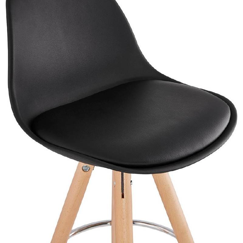 Tabouret de bar mi-hauteur design scandinave OCTAVE MINI (noir) - image 38233