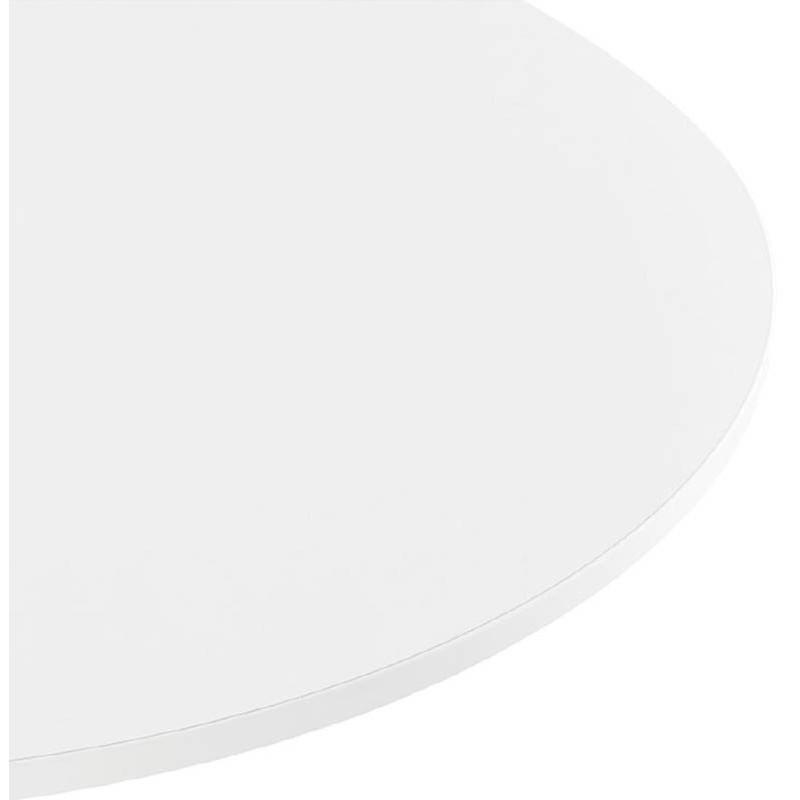 Table haute mange-debout design LUCIE en bois pieds métal blanc (Ø 90 cm) (blanc) - image 38258