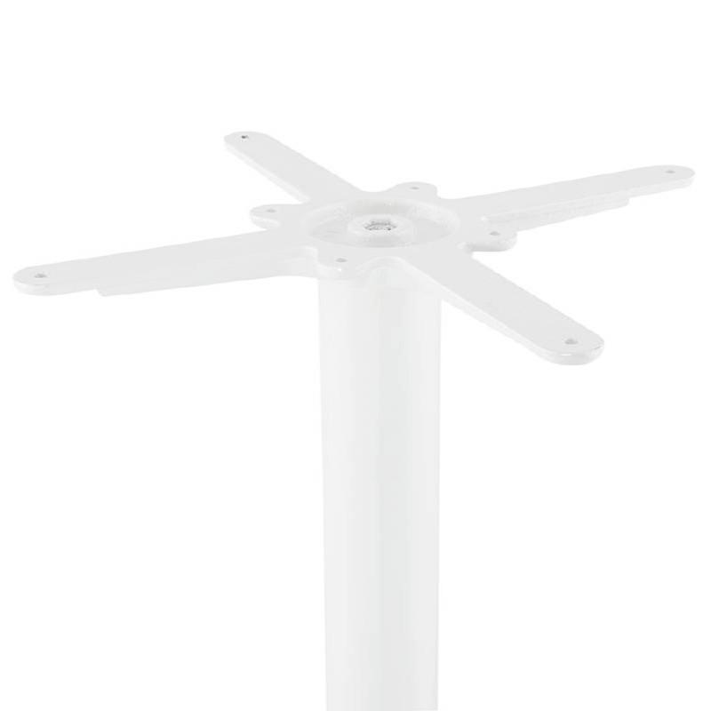 Table haute mange-debout design LAURA en bois pieds métal blanc (Ø 90 cm) (blanc) - image 38269