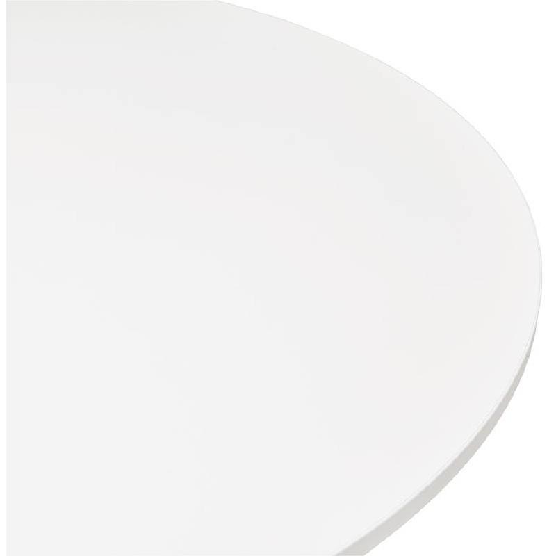 Table haute mange-debout design LUCIE en bois pieds métal chromé (Ø 90 cm) (blanc) - image 38302