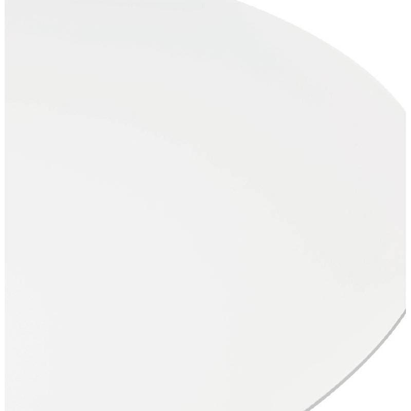 Table haute mange-debout design LAURA en bois pieds métal chromé (Ø 90 cm) (blanc) - image 38316