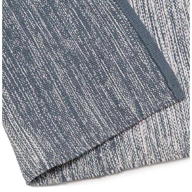 Tappeto design rettangolare (230 X 160 cm) cotone Basil (blu) - image 38512