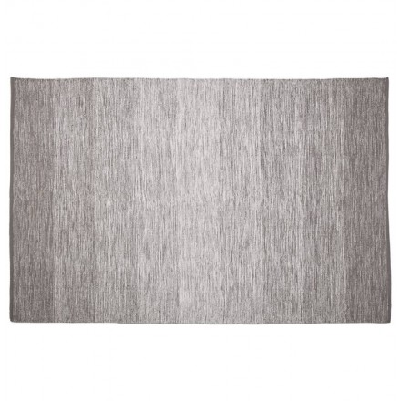 Carpet design rectangular (230 cm X 160 cm) Basil (grey) cotton